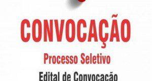 EDITAL DE CONVOCAÇÃO Nº 9 – PROCESSO SELETIVO Nº 2
