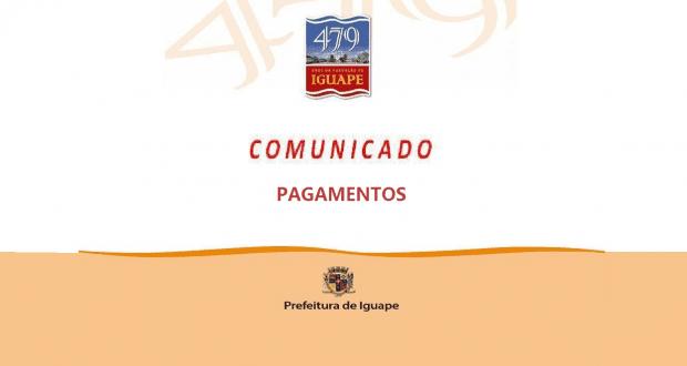COMUNICADO – PAGAMENTO DE 13º SALÁRIO