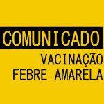 MAIS UM SÁBADO DE VACINAÇÃO CONTRA A FEBRE AMARELA