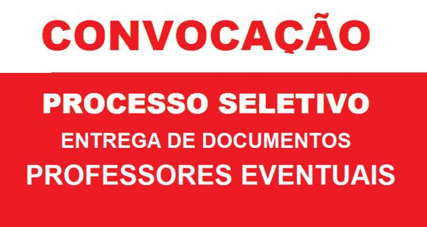 EDITAL PARA ENTREGA DE DOCUMENTOS – PROFESSORES EVENTUAIS