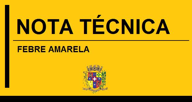 FEBRE AMARELA – NOTA TÉCNICA