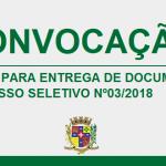 CONVOCAÇÃO – PROCESSO SELETIVO Nº 03