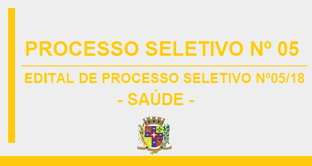 EDITAL DE PROCESSO SELETIVO Nº05