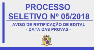 RETIFICAÇÃO DE EDITAL