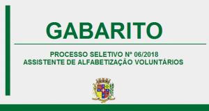 GABARITO DO PROCESSO SELETIVO Nº06