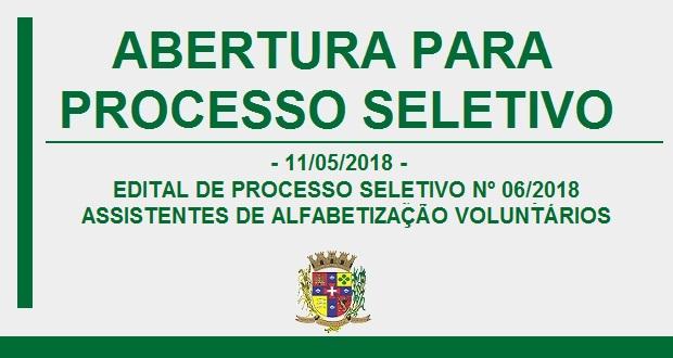 EDITAL DE PROCESSO SELETIVO Nº 06
