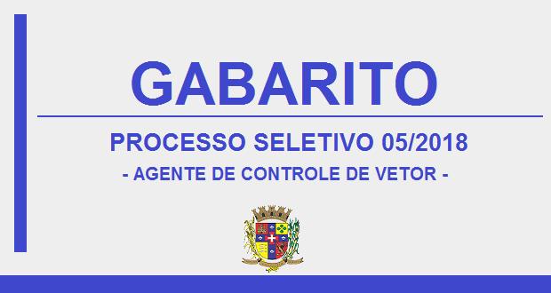 GABARITO – PROCESSO SELETIVO Nº 05