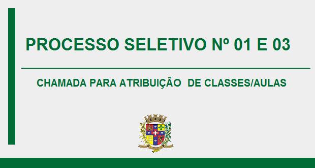 PROCESSO SELETIVO SIMPLIFICADO 01 E 03