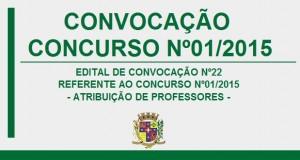 CONVOCAÇÃO – CONCURSO Nº01/2015
