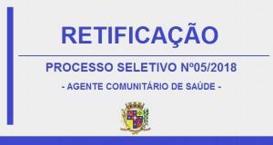 RETIFICAÇÃO – EDITAL PROCESSO SELETIVO Nº 05