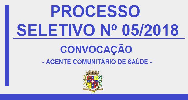 EDITAL DE CONVOCAÇÃO – AGENTE COMUNITÁRIO DE SAÚDE