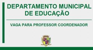 VAGA PARA PROFESSOR COORDENADOR