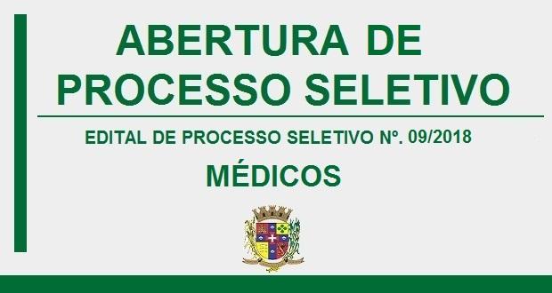 ABERTURA DE PROCESSO SELETIVO Nº. 09/2018
