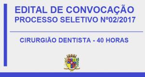 PROCESSO SELETIVO Nº02/2017