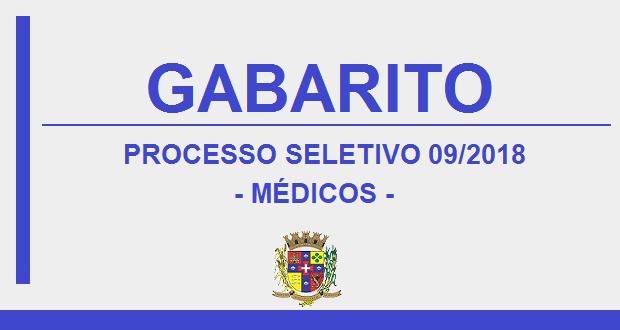 GABARITO – PROCESSO SELETIVO Nº09