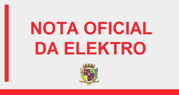 NOTA OFICIAL DA ELEKTRO