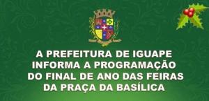PROGRAMAÇÃO DO FINAL DE ANO DAS FEIRAS DA PRAÇA
