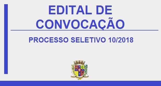 PROCESSO SELETIVO Nº10/2018