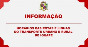 ROTAS E LINHAS DO TRANSPORTE URBANO E RURAL DE IGUAPE