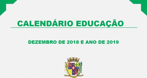 CALENDÁRIO EDUCAÇÃO