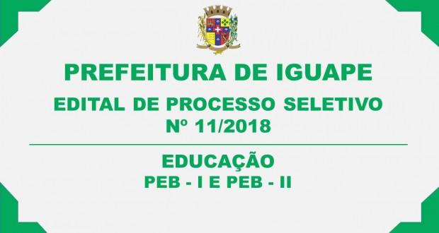 EDITAL DE ABERTURA DE PROCESSO SELETIVO Nº 11/2018