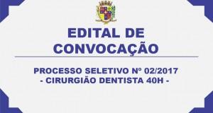 EDITAL DE CONVOCAÇÃO 37 – PROCESSO SELETIVO Nº02/2017