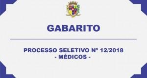 GABARITO – PROCESSO SELETIVO Nº12