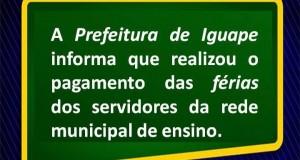 PAGAMENTO DE FÉRIAS