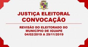 JUSTIÇA ELEITORAL – CONVOCAÇÃO
