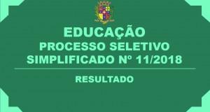 RESULTADO DO PROCESSO SELETIVO Nº 11/2018