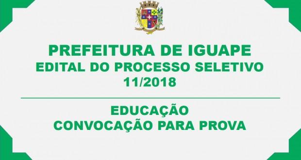 EDITAL DE CONVOCAÇÃO PARA AS PROVAS