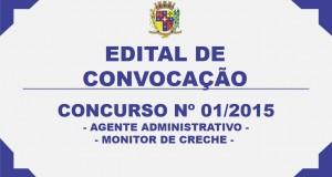 EDITAL DE CONVOCAÇÃO DO CONCURSO Nº 01/2015