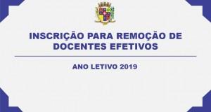 INSCRIÇÃO PARA REMOÇÃO DE DOCENTES EFETIVOS