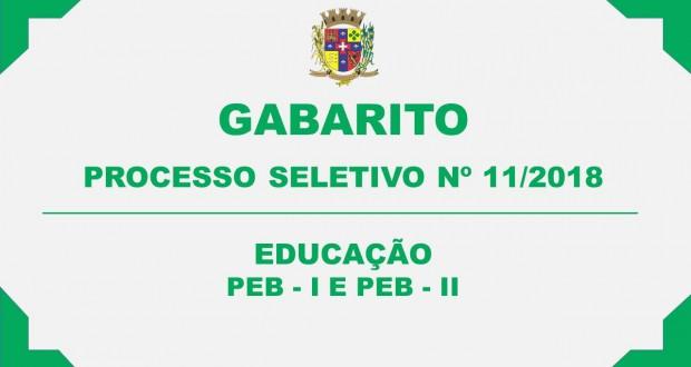 GABARITO DO PROCESSO SELETIVO Nº 11/2018