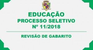 REVISÃO DE GABARITO – PROCESSO SELETIVO SIMPLIFICADO Nº 11/2018