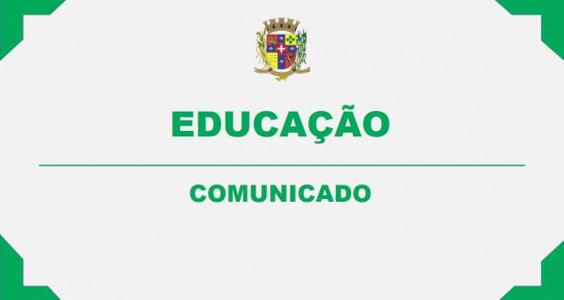 COMUNICADO – EDUCAÇÃO