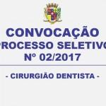 CONVOCAÇÃO – PROCESSO SELETIVO Nº 02/2017