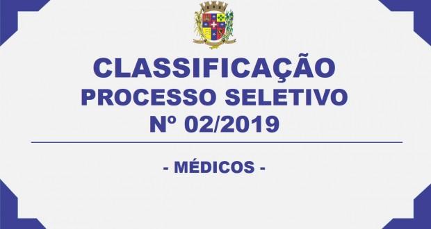 CLASSIFICAÇÃO PROCESSO SELETIVO Nº 02/2019