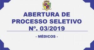 ABERTURA DE PROCESSO SELETIVO – Nº03/2019