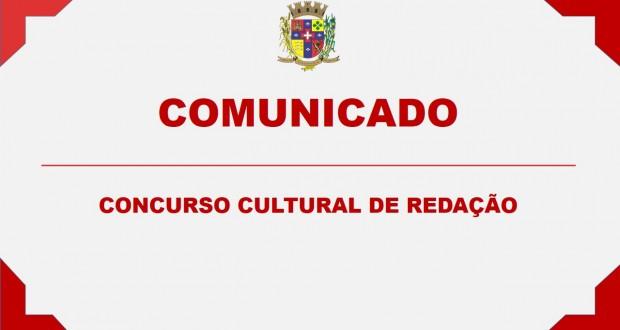 COMUNICADO – CONCURSO CULTURAL DE REDAÇÃO