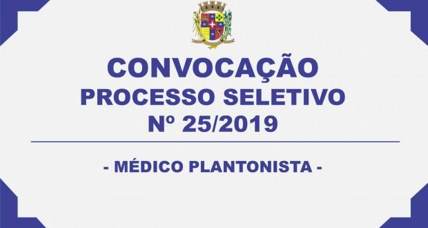 CONVOCAÇÃO – PROCESSO SELETIVO N°02/2019