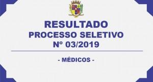 RESULTADO PROCESSO SELETIVO Nº03/2019