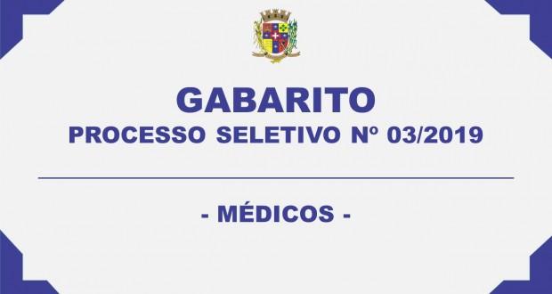 GABARITO – PROCESSO SELETIVO Nº 03/2019