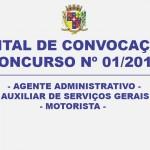 CONVOCAÇÃO – CONCURSO Nº 01/2015