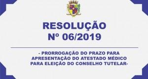 RESOLUÇÃO N° 06/2019