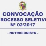 EDITAL DE CONVOCAÇÃO – PROCESSO SELETIVO Nº/2017