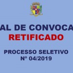 EDITAL DE CONVOCAÇÃO RETIFICADO