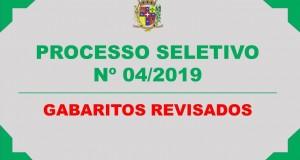PROCESSO SELETIVO SIMPLIFICADO Nº 04/2019 – GABARITOS REVISADOS