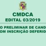 CMDCA – EDITAL 03/2019