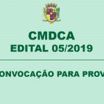 CMDCA –  CONVOCAÇÃO PARA PROVA